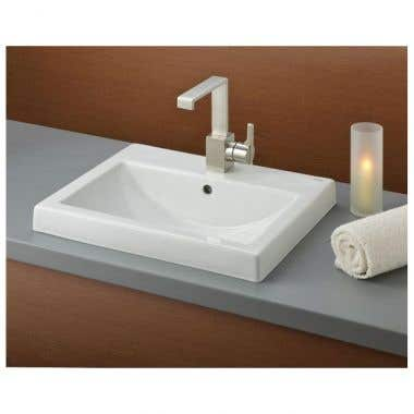 Cheviot Camilla Semi-Recessed Basin Sink with Single Faucet Drilling