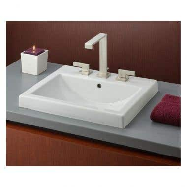 Cheviot Camilla Semi-Recessed Basin Sink with 8 inch Faucet Drillings