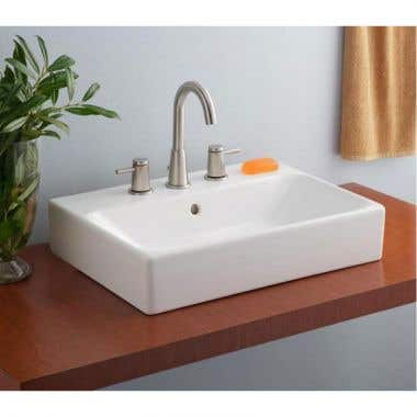 Cheviot Nuo Overcounter Bath Sink with 8 Inch Drilling