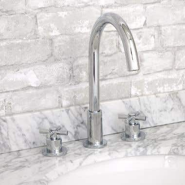 Randolph Morris Widespread Bathroom Sink Faucet - Metal Cross Handles