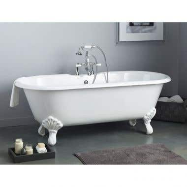 Cheviot Regal 68 Inch Cast Iron Double Ended Bathtub - 7 Inch Rim Drillings
