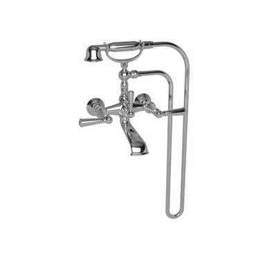Newport Brass Aylesbury Wall Mount Exposed Tub and Hand Shower Set - Lever Handles