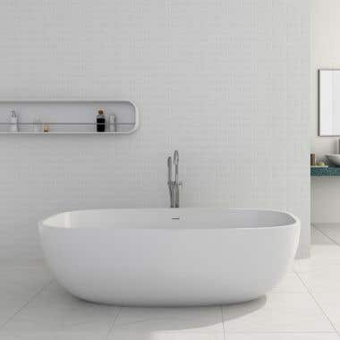 Cheviot Giorgio 67 Inch Solid Surface Freestanding Double Ended Bathtub - No Faucet Drillings