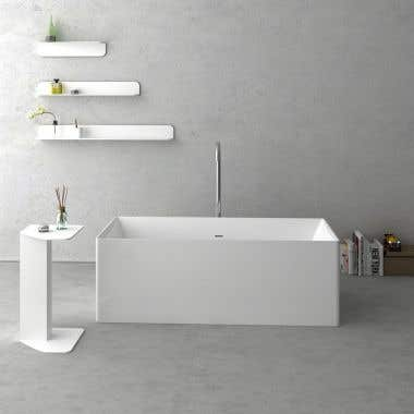 Cheviot Navona 63 Inch Solid Surface Freestanding Double Ended Bathtub - No Faucet Drillings
