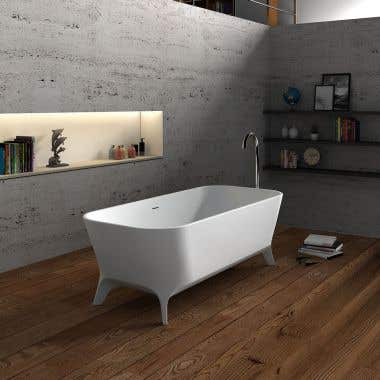 Cheviot Palermo 71 Inch Solid Surface Double Ended Clawfoot Bathtub - No Faucet Drillings