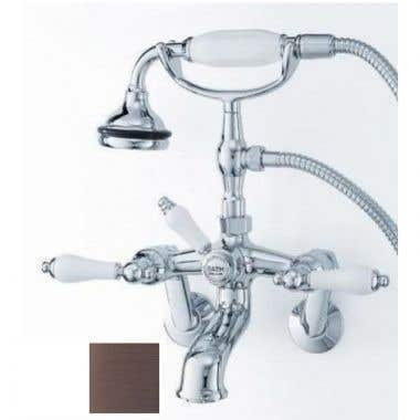 Cheviot Bathroom Wall Mount Adjustable Hand Shower Tub Faucet with Lever Handles