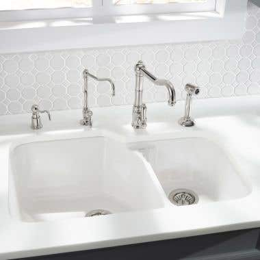 Rohl Allia Fireclay Double Bowl Kitchen Sink