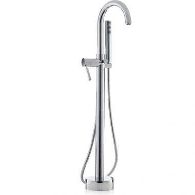 Cheviot Contemporary Free Standing Tub Filler with Handshower