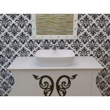 Aquatica Arabella Aquastone Rectangular Vessel Bathroom Sink