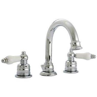 Banner 670 Series Widespread Sink Faucet Set with CERAMIC lever handles Inserts
