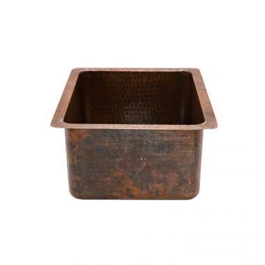Premier Copper Products Gourmet Rectangular Copper Bar/Prep Sink