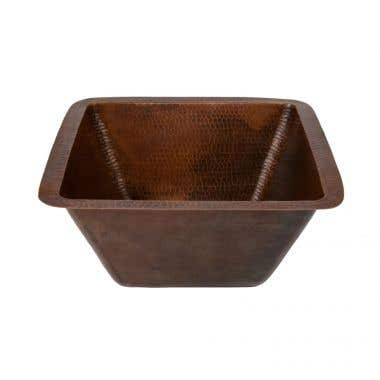 Premier Copper Products 15 Inch Square Bar/Prep Sink