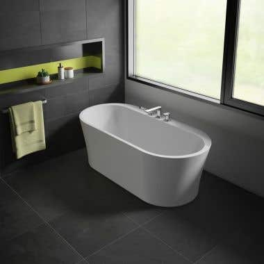 Opus Libretto Acrylic Double Ended Freestanding Tub - No Faucet Drillings