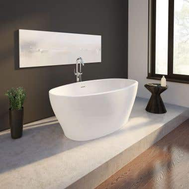 Opus Octave Acrylic Double Ended Freestanding Tub - No Faucet Drillings