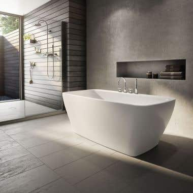 Opus Waltz Acrylic Double Ended Freestanding Tub - No Faucet Drillings