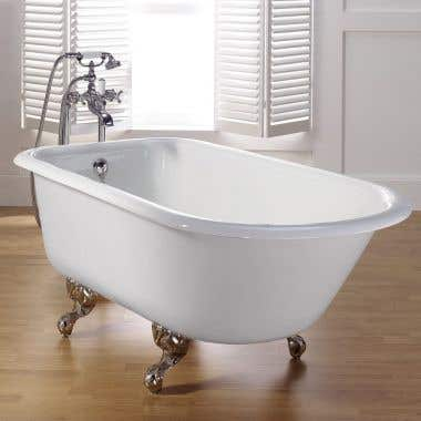 Cheviot Traditional Cast Iron Clawfoot Tub - No Faucet Drillings