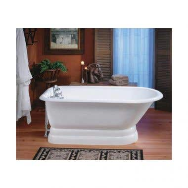 Cheviot 61 Inch Traditional Cast Iron Pedestal Tub - Wall Faucet Drillings
