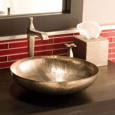 Native Trails Maestro Sonata Petit 14-1/2 Inch Vessel Copper Bathroom Sink