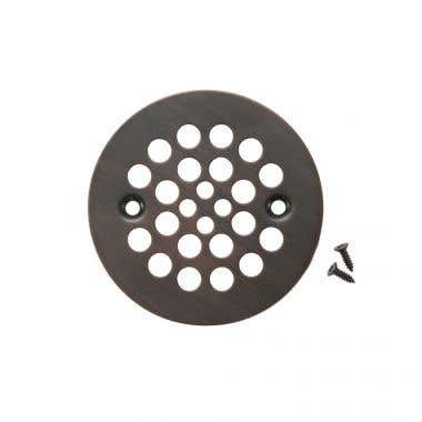 Premier Copper Products 4-1/4 Inch Round Shower Drain Cover