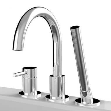 DECK MOUNT TUB FAUCET WITH HANDSHOWER
