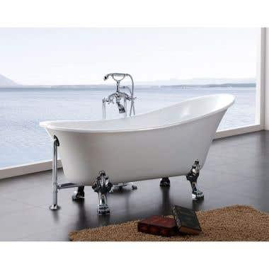 A&E Bath and Shower Dorya 69 Inch Acrylic Clawfoot Tub