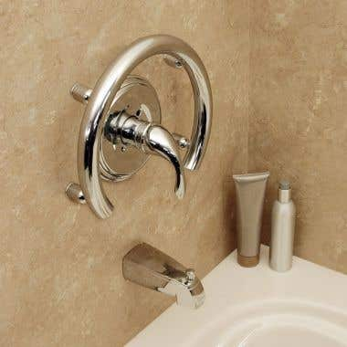 HealthCraft Invisia Collection Integrated Accent Ring Grab Bar
