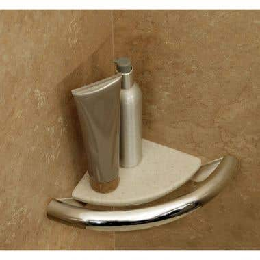 HealthCraft Invisia Collection Integrated Corner Shelf Grab Bar