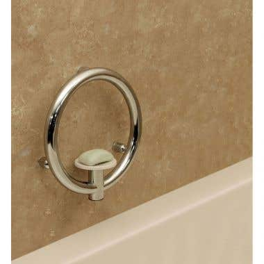 HealthCraft Invisia Collection Integrated Soap Dish Grab Bar