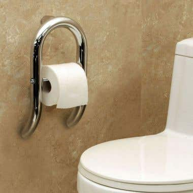 HealthCraft Invisia Collection Integrated Toilet Paper Holder Grab Bar