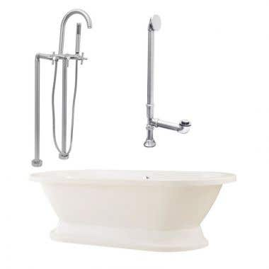 Giagni Capri 67 Inch Pedestal Tub Set with Cross Handles