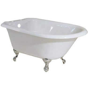 Randolph Morris 48 Inch Cast Iron Classic Clawfoot Tub Rim Drillings