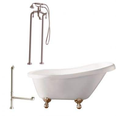 Giagni Hawthorne 60 Inch Slipper Tub Set with Ball and Claw Feet