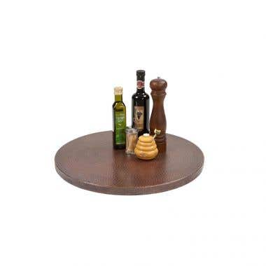 Premier Copper Products 20 Inch Hand Hammered Copper Lazy Susan