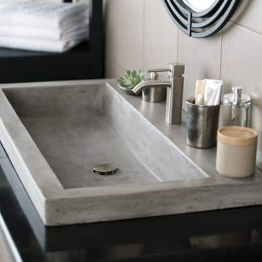 Native Trails 36 Inch NativeStone Trough Bath Sink