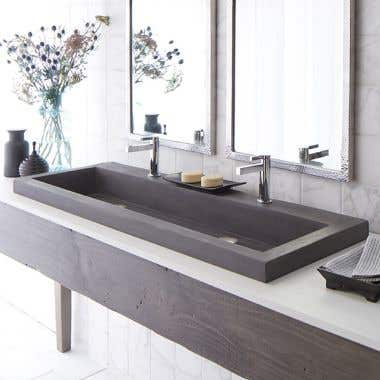 Native Trails 48 Inch NativeStone Trough Bath Sink