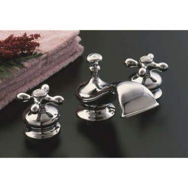 Strom Plumbing Thames Widespread Lavatory Sink Faucet Set with Metal Cross Handles