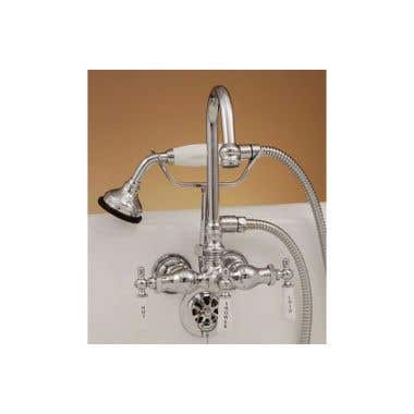 Strom Plumbing Gooseneck Spout Clawfoot Tub Faucet with Handshower