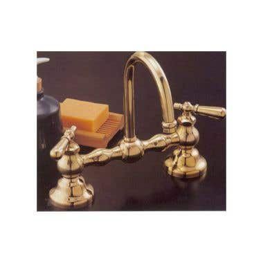 Strom Plumbing Columbia Bridge Faucet Set with High Spout - 8 Inch Centers