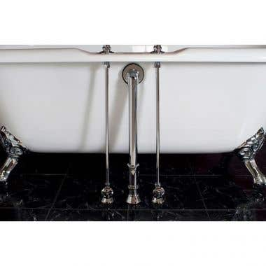 Strom Plumbing Clawfoot Tub Water Supply Lines For Deck Mounted Tub Faucets
