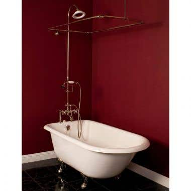 Strom Plumbing Deck Mounted English Telephone Tub Filler and Shower Enclosure