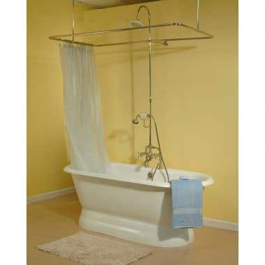 Strom Plumbing Side Deck Mounted English Telephone Tub Filler and Shower Enclosure