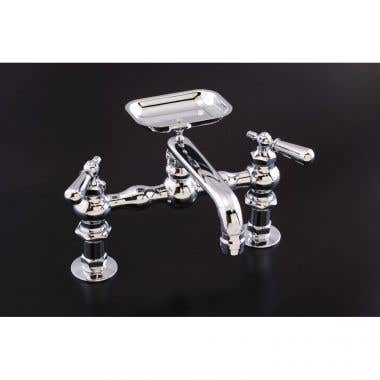 Strom Plumbing Bridge Style Kitchen Sink Faucet with Soap Dish