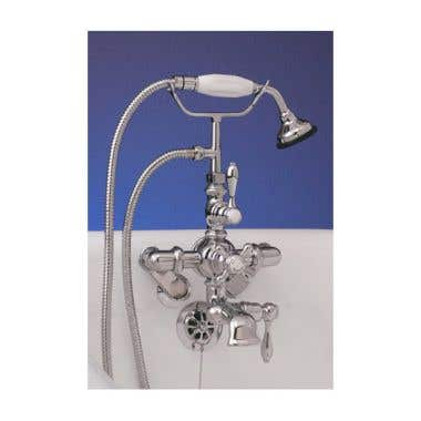 Strom Plumbing Tub Wall Mount Thermostatic Clawfoot Tub Faucet with Handshower