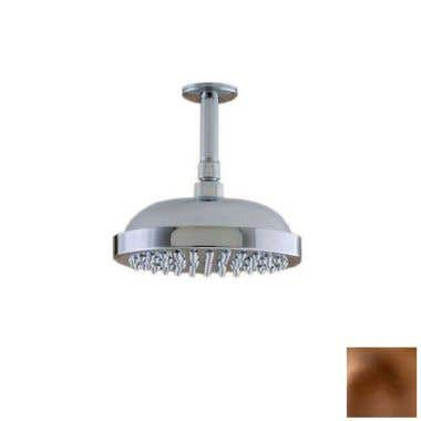 Strom Plumbing 8 Inch Ceiling Mount Shower Head with Arm and Escutcheon