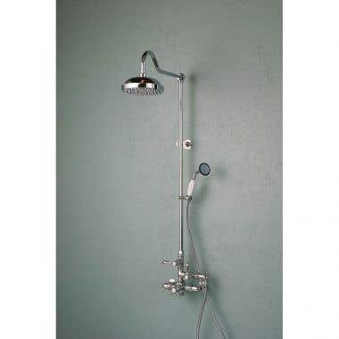 Strom Plumbing Exposed Wall Mount Thermostatic Shower Faucet with Handshower