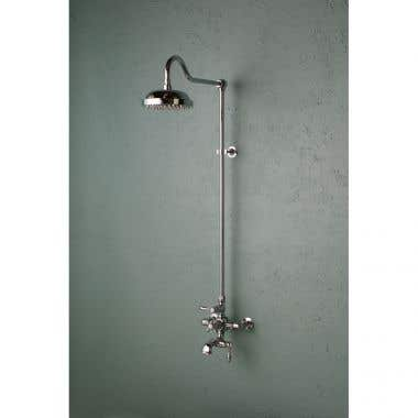 Strom Plumbing Exposed Wall Mount Thermostatic Tub and Shower Faucet