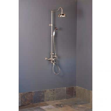 Strom Plumbing Exposed Thermostatic Shower with Tub Filler and 36 Inch Riser