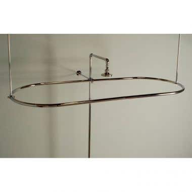 Strom Plumbing Oval Shower Enclosure with Wall and Ceiling Supports