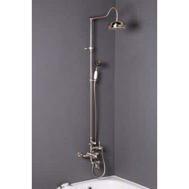 Strom Plumbing Exposed Thermostatic Shower with Tub Filler and 54 Inch Riser