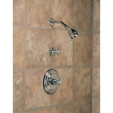 Strom Plumbing Thermostatic Shower Set with Metal Cross Handles